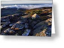 Rock And Fog Greeting Card