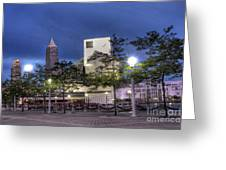 Rock And Roll Plaza Greeting Card