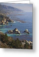 Rock Formations Along The Coast Big Sur Greeting Card
