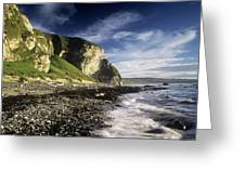 Rock Formations At The Coast Greeting Card