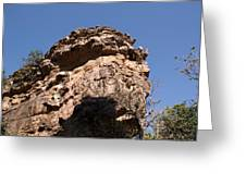 Rock Formations Bhimbhetka Greeting Card