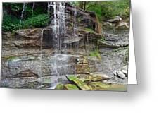 Rock Glen Falls 9 Greeting Card
