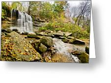 Rock Glen Falls Greeting Card by Cale Best