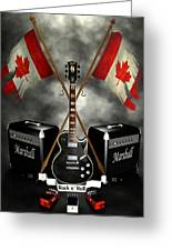 Rock N Roll Crest- Canada Greeting Card by Frederico Borges