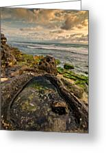 Rock Pool View Greeting Card