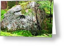 Rock Spirits Keeping Secrets Greeting Card