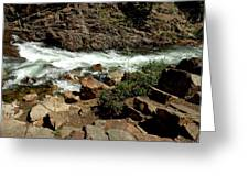 Rock Steps To Glen Alpine Creek Greeting Card