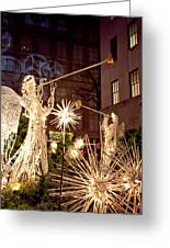 Rockefeller Angels Greeting Card