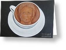 Rockin'coffee Greeting Card