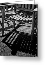 Rocking Chair Lit By The Afternoon Sun Greeting Card