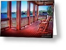 Rocking Chair Porch View Greeting Card