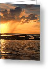 Rockpool Sunset Greeting Card