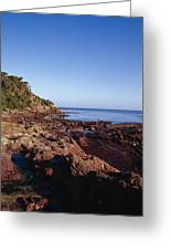 Rockpools In Volcanic Rock Formations Greeting Card