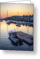 Rockport Dawn Greeting Card by Matthew Green