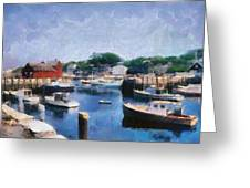 Rockport Maine Harbor Greeting Card