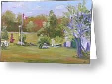 Rockport Ontario Pond Fountain Greeting Card