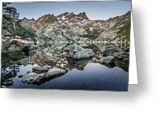 Rocks And Reflections Greeting Card