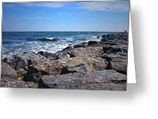 Rocks And The Ocean Greeting Card