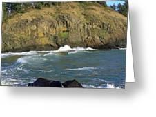 Rocks And Waves Greeting Card