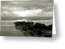 Rocks At Folly Beach Sc Greeting Card