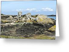 Rocks At Low Tide Iles Chausey Greeting Card