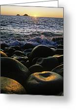 Rocks At The Coast, Giants Causeway Greeting Card