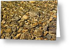 Rocks In Crystal Clear Water Greeting Card