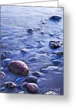 Rocks In Water Greeting Card