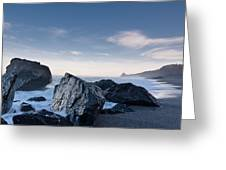 Rocks Of Dry Lagoon Greeting Card