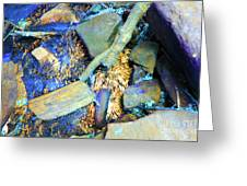 Rocks Of Gold Greeting Card