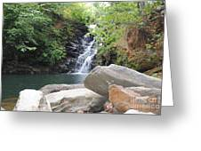 Rocks Of The Falls Greeting Card