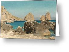 Rocks Of The Sirens Greeting Card by Frederic Leighton
