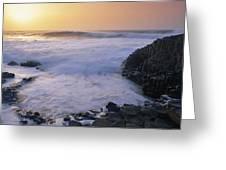 Rocks On The Beach, Giants Causeway Greeting Card