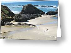 Rocks On The Oregon Coast Greeting Card
