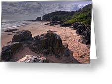 Rocks On The Shore Greeting Card