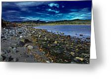 Rocky Beach In Western Canada Greeting Card