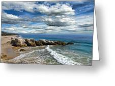 Rocky Coast In Malibu California Greeting Card