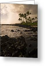 Rocky Coastline, Poipu, Kauai, Hawaii Greeting Card