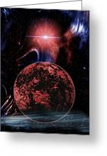 Rocky Extrasolar Planet Greeting Card