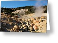 Rocky Fumarole Greeting Card