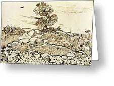 Rocky Ground At Montmajour Greeting Card