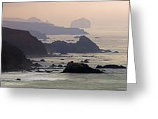 Rocky Headlands On The Big Sur Coast Greeting Card