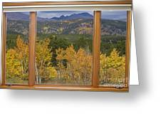 Rocky Mountain Autumn Picture Window Scenic View Greeting Card