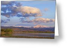 Rocky Mountain Early Morning View Greeting Card