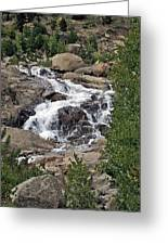 Rocky Mountain Falls Greeting Card