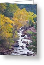 Rocky Mountain Golden Canyon Scenic View Greeting Card