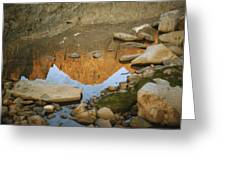 Rocky Mountain Peaks Are Reflected Greeting Card