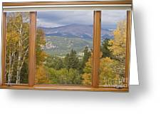 Rocky Mountain Picture Window Scenic View Greeting Card