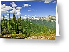 Rocky Mountain View From Mount Revelstoke Greeting Card