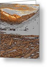 Rocky Mountain Winter Greeting Card